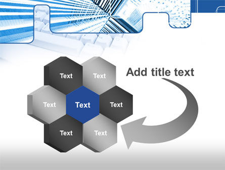 Blue Computer Keyboard PowerPoint Template Slide 11