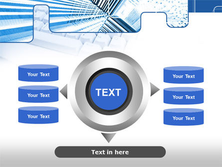 Blue Computer Keyboard PowerPoint Template Slide 12