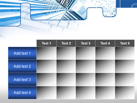 Blue Computer Keyboard PowerPoint Template Slide 15