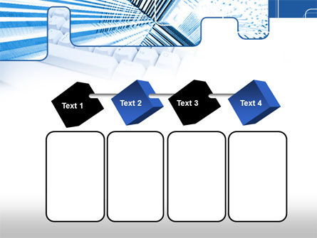 Blue Computer Keyboard PowerPoint Template Slide 18