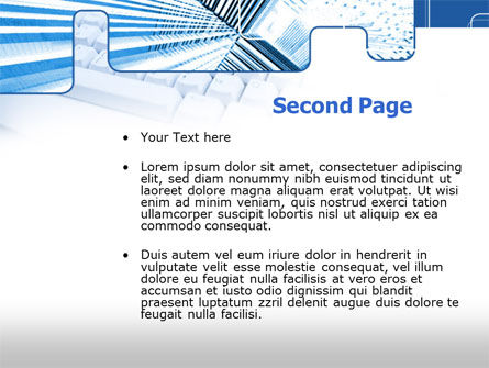 Blue Computer Keyboard PowerPoint Template Slide 2