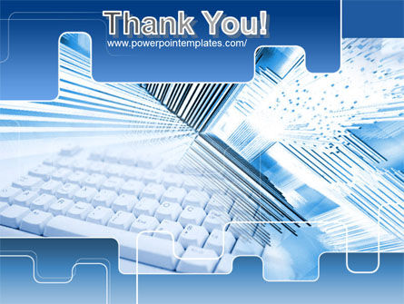 Blue Computer Keyboard PowerPoint Template Slide 20