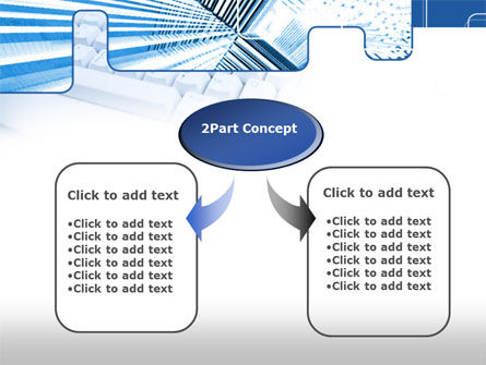 Blue Computer Keyboard PowerPoint Template Slide 4