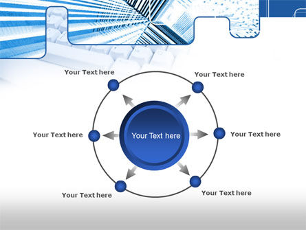 Blue Computer Keyboard PowerPoint Template Slide 7