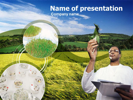 Technology and Science: Modèle PowerPoint de agronomie sur le terrain #00359
