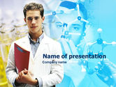 Education & Training: Young Scientist Free PowerPoint Template #00360