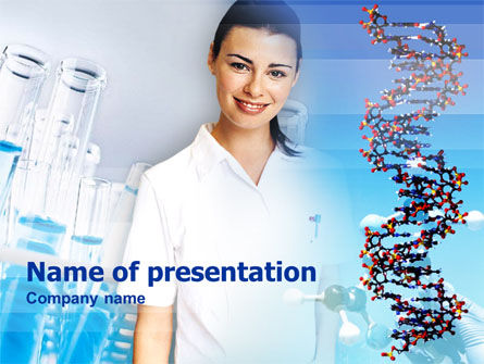 Genetic Studies Laboratory PowerPoint Template, 00362, Careers/Industry — PoweredTemplate.com