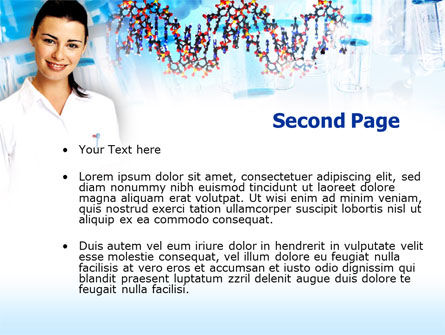 Genetic Studies Laboratory PowerPoint Template Slide 2