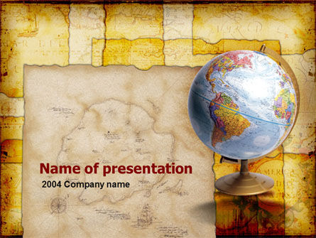 Education & Training: Historische Geografie PowerPoint Template #00363
