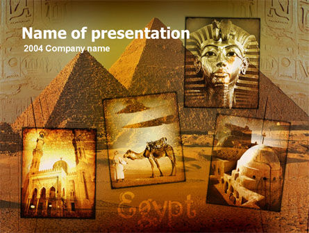 Pyramids Of Giza PowerPoint Template, 00364, Education & Training — PoweredTemplate.com