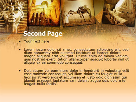 Pyramids Of Giza PowerPoint Template, Slide 2, 00364, Education & Training — PoweredTemplate.com