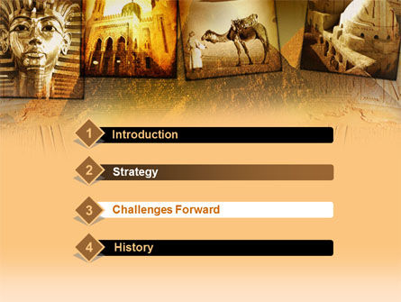 Pyramids Of Giza PowerPoint Template, Slide 3, 00364, Education & Training — PoweredTemplate.com