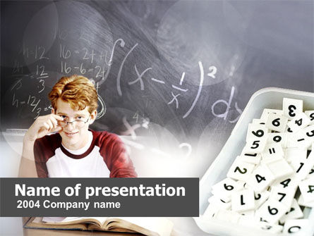 Student Of Mathematics PowerPoint Template, 00366, Education & Training — PoweredTemplate.com