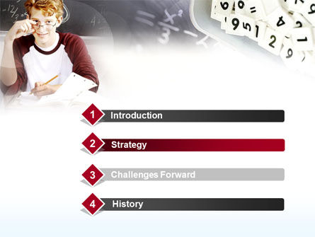 Student Of Mathematics PowerPoint Template, Slide 3, 00366, Education & Training — PoweredTemplate.com