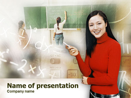 Education & Training: Teacher Of Mathematics PowerPoint Template #00367