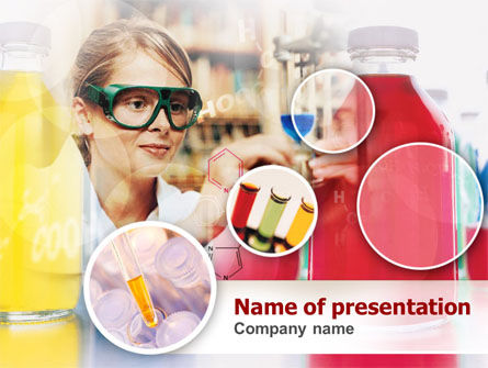 Technology and Science: Laboratory Tester in Process PowerPoint Template #00369