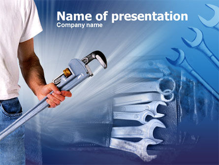 Utilities/Industrial: Wrench Set PowerPoint Template #00370
