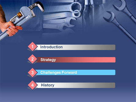Wrench Set PowerPoint Template, Slide 3, 00370, Utilities/Industrial — PoweredTemplate.com