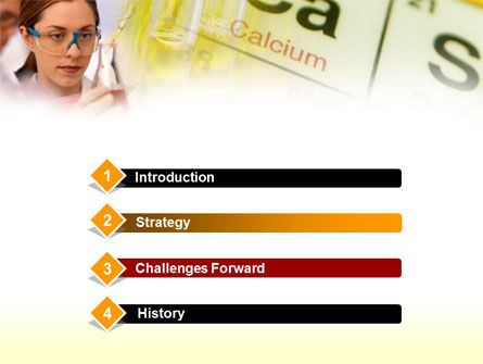 Study of Chemistry PowerPoint Template, Slide 3, 00371, Education & Training — PoweredTemplate.com