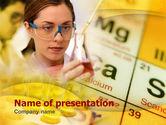 Education & Training: Studie Van Chemie PowerPoint Template #00371