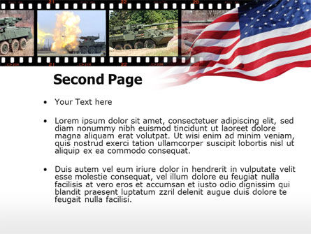 IAV Stryker PowerPoint Template, Slide 2, 00374, Military — PoweredTemplate.com