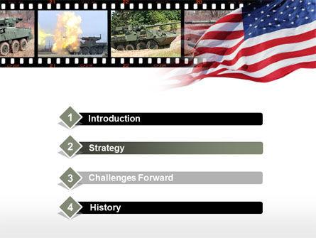 IAV Stryker PowerPoint Template, Slide 3, 00374, Military — PoweredTemplate.com