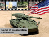 Military: IAV Stryker PowerPoint Template #00374