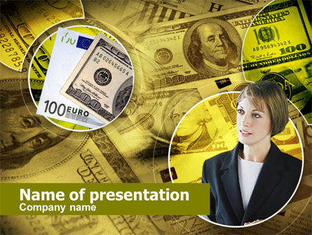 Financial/Accounting: Lady Financier PowerPoint Template #00375