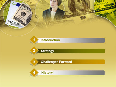 Lady Financier PowerPoint Template, Slide 3, 00375, Financial/Accounting — PoweredTemplate.com