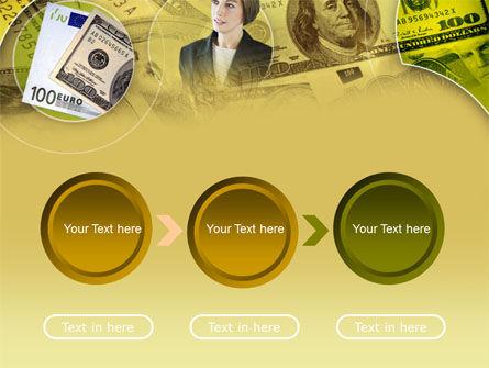 Lady Financier PowerPoint Template Slide 5