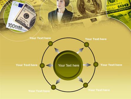 Lady Financier PowerPoint Template Slide 7
