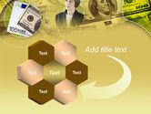 Lady Financier PowerPoint Template#11