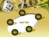 Lady Financier PowerPoint Template#14