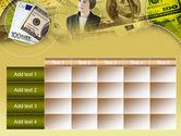 Lady Financier PowerPoint Template#15