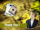 Lady Financier PowerPoint Template#20