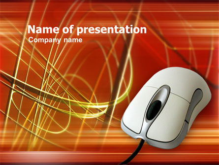 Telecommunication: Wired Computer Mouse PowerPoint Template #00376