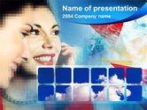 Telecommunication: Plantilla de PowerPoint - teléfono hablando #00377