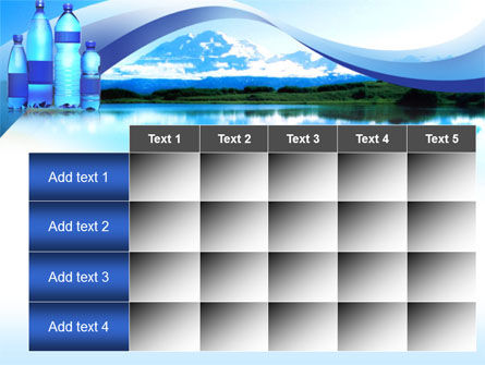 Bottled Mineral Water PowerPoint Template Slide 15
