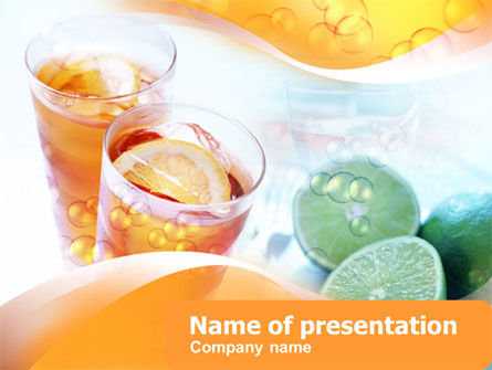 Citrus Juices PowerPoint Template, 00380, Food & Beverage — PoweredTemplate.com