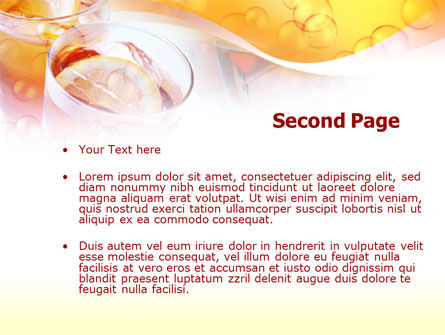 Citrus Juices PowerPoint Template, Slide 2, 00380, Food & Beverage — PoweredTemplate.com