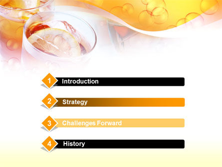 Citrus Juices PowerPoint Template, Slide 3, 00380, Food & Beverage — PoweredTemplate.com