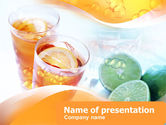 Food & Beverage: Citrus Juices PowerPoint Template #00380
