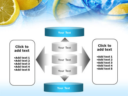 Mineral Water with Lemon PowerPoint Template Slide 13