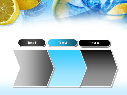 Mineral Water with Lemon PowerPoint Template Slide 16
