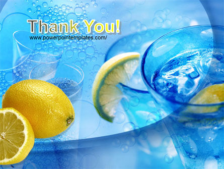 Mineral Water with Lemon PowerPoint Template Slide 20