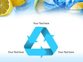 Mineral Water with Lemon PowerPoint Template#10