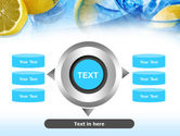 Mineral Water with Lemon PowerPoint Template#12