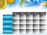 Mineral Water with Lemon PowerPoint Template#15