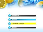 Mineral Water with Lemon PowerPoint Template#3