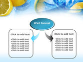 Mineral Water with Lemon PowerPoint Template#4